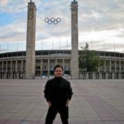 Tour Alemania 2010 - Manuel Linares en el Estadio Olímpico de Berlín